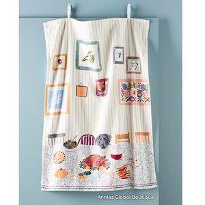 ANTHROPOLOGIE Ruby's Thanksgiving Tea Towel NWT